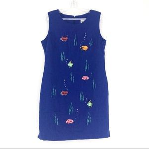 Ultra Dress New York Under The Sea Fishes Blue
